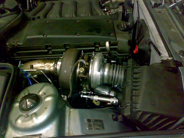 non vw diesel swap american truck engine into BMW 850 CI